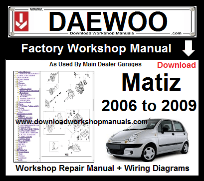 Daewoo Matiz Workshop Service Repair Manual Download