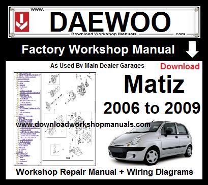 daewoo matiz workshop repair manual download download. Black Bedroom Furniture Sets. Home Design Ideas