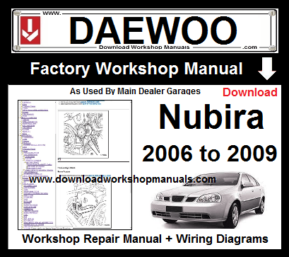 Daewoo Nubira Workshop Service Repair Manual Download