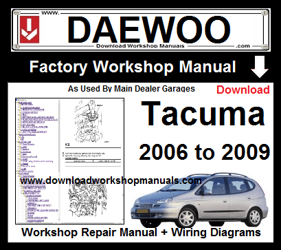 daewoo tacuma workshop repair manual download  download workshop manuals .com