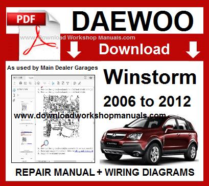 Stupendous Daewoo Winstorm Workshop Repair Manual Download Wiring Digital Resources Dimetprontobusorg