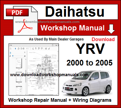 daihatsu yrv service repair workshop manual