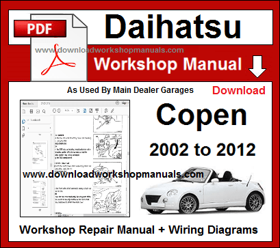 Daihatsu Copen Workshop Repair Manual on