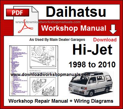 daihatsu hijet service repair workshop manual