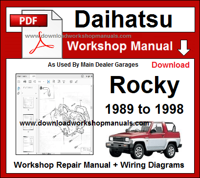 Daihatsu Rocky Service Repair Workshop Manual