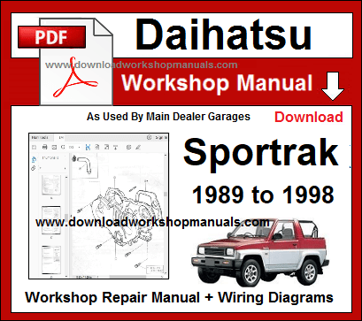 Daihatsu Sportrak Service Repair Workshop Manual