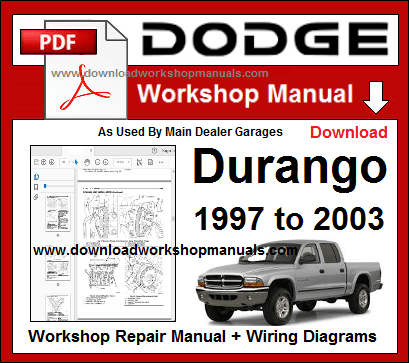Dodge Durango Service Repair Workshop Manual Download