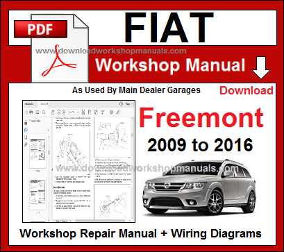 fiat freemont service repair workshop manuals download
