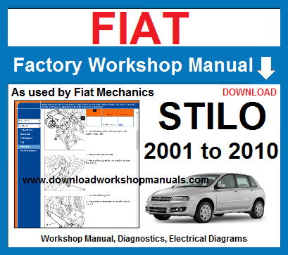 fiat stilo workshop repair manual download workshop manuals comcompatible with all pc operating systems windows 10, 8 1, 8, 7, vista, xp 32bit and 64bit fiat stilo workshop manual download