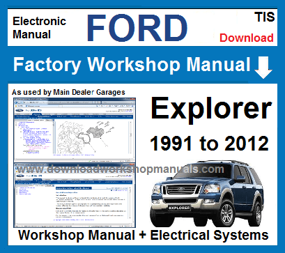 Ford Explorer Workshop Service Repair Manual