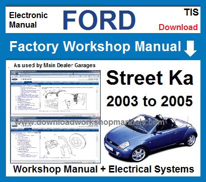 ford streetka workshop service repair manual