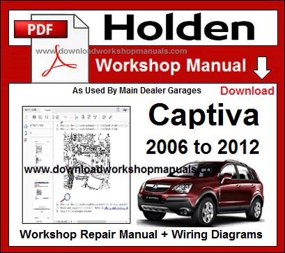 holden captiva service repair workshop manual