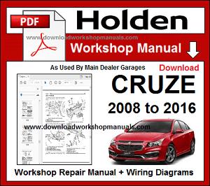 Holden Cruze Workshop Repair Manual Download border=