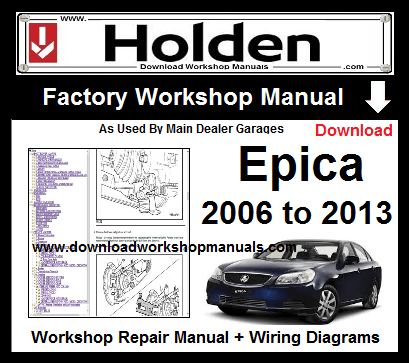 holden Epica service repair workshop manual