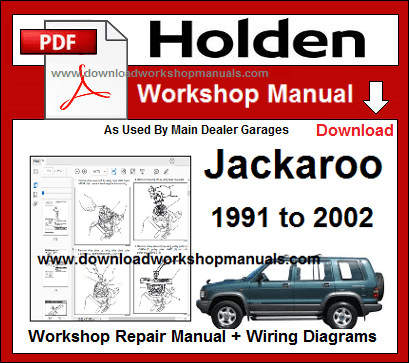 Holden Jackaroo Workshop Service Repair Manual pdf