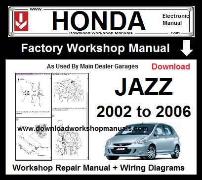 Honda Jazz 2002 To 2006 Workshop Repair Manual Download Download
