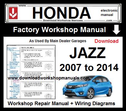 Honda Jazz 2007 To 2014 Workshop Repair Manual Download Download