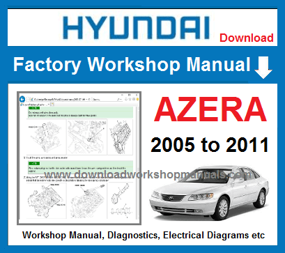 hyundai azera 2006 service repair manual