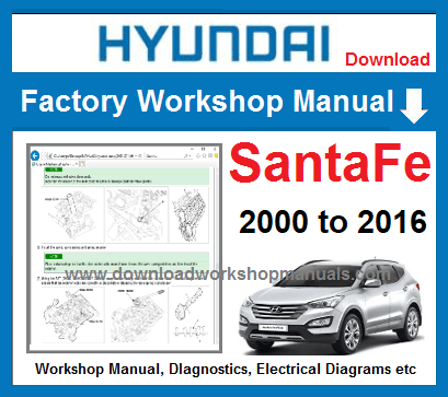 Hyundai Santa Fe Workshop service Repair Manual