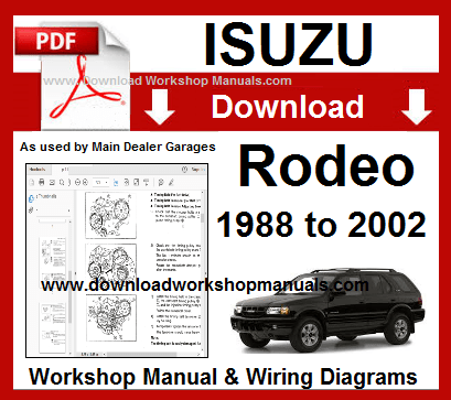 Isuzu Rodeo Workshop Service Repair Manual Download