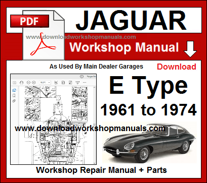 Jaguar E Type Service Repair Workshop Manual pdf