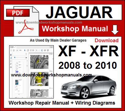 JAGUAR XF XFR Workshop Manual Download on