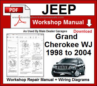 Jeep Grand Cherokee Wj 1998 To 2004 Workshop Repair Manual Download