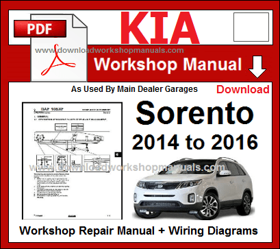 Kia sorento repair workshop manual