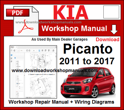 Kia picanto 2011 to 2017 repair workshop manual