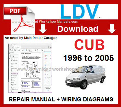 LDV Cub Workshop Service Repair Manual