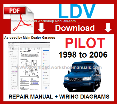 LDV Pilot Workshop Service Repair Manual