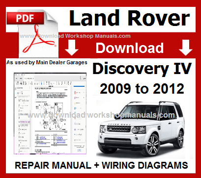 Land Rover Discovery 4 Service Repair Workshop Manual