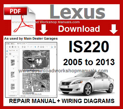 Lexus IS 220 Workshop Service Repair Manual