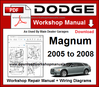 Dodge Magnum Service Repair Workshop Manual Download