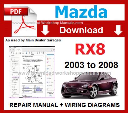 Mazda RX 8 Workshop Manual Download - DOWNLOAD WORKSHOP
