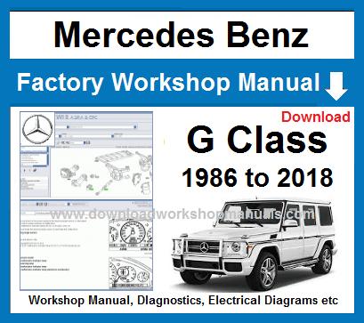 Mercedes G Class Workshop ManualDownload Workshop Manuals .com