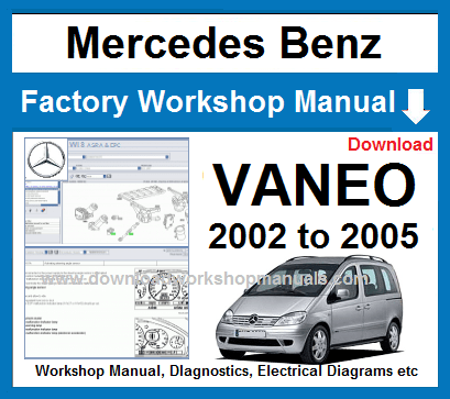 Mercedes vaneo workshop repair manual