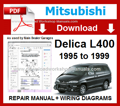 Mitsubishi L400 Workshop Manual Download PDF