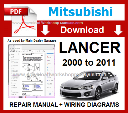 Mitsubishi Lancer Workshop Manual Download PDF