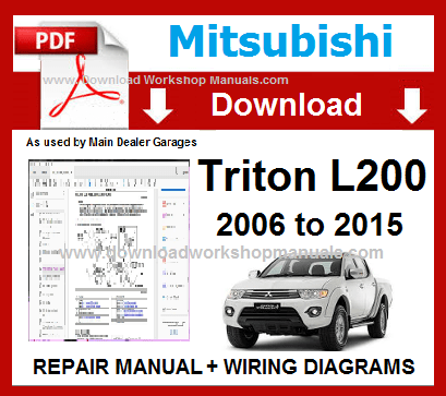 Mitsubishi Triton Workshop Manual download - DOWNLOAD