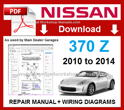 2010 nissan 370z service repair manual