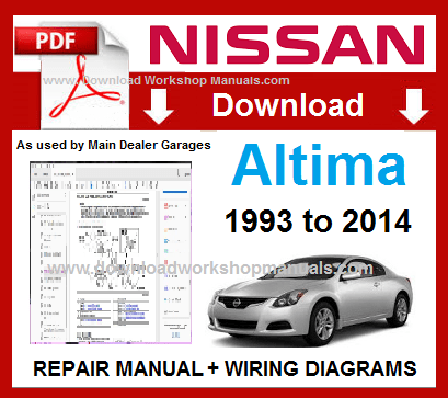 Nissan Altima Workshop Manual Wiring Diagrams