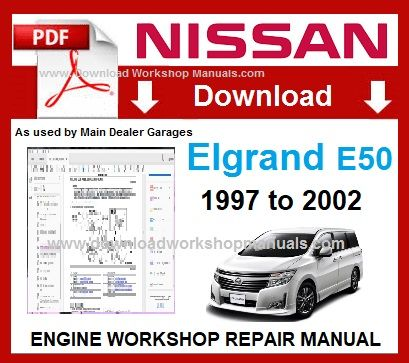 Nissan Elgrand E50 Workshop Service Repair Manual