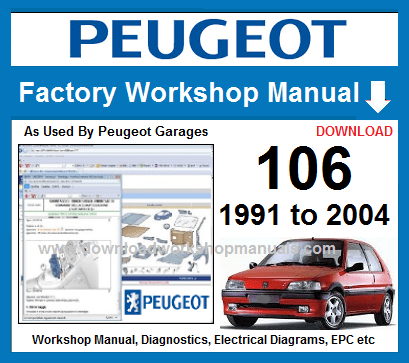 compatible with all pc operating systems windows 10, 8 1, 8, 7, vista, xp -  32bit and 64bit  peugeot 106  workshop manual download