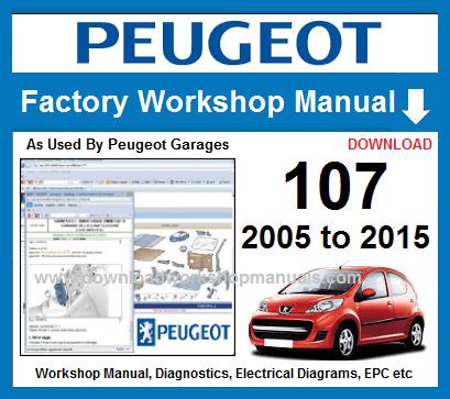 peugeot 107 wiring diagram peugeot 107 workshop repair manual  peugeot 107 workshop repair manual