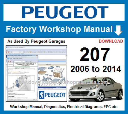 Peugeot 207 Workshop Repair Manual Download