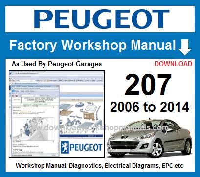 peugeot 207 workshop repair manual download