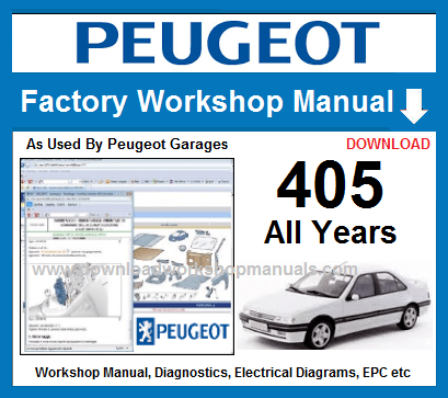 Peugeot 405 Workshop Repair Manual Download