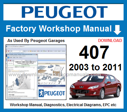 Peugeot 407 Workshop Manual Pdf