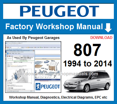 peugeot 807 wiring diagram download peugeot 807 workshop repair manual  peugeot 807 workshop repair manual